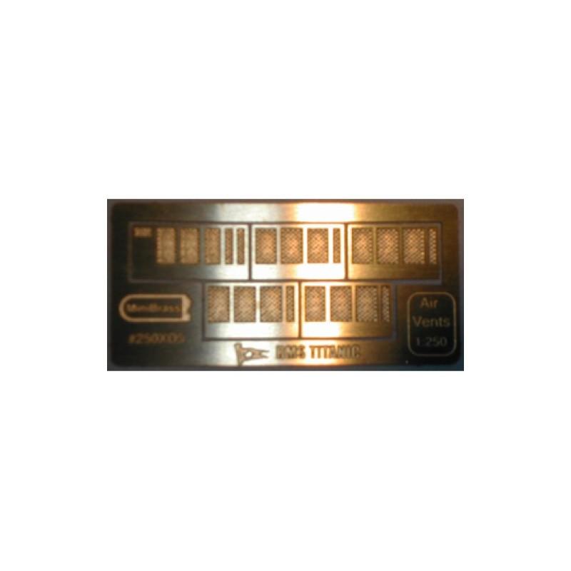 250XD5 Grilles d'aération